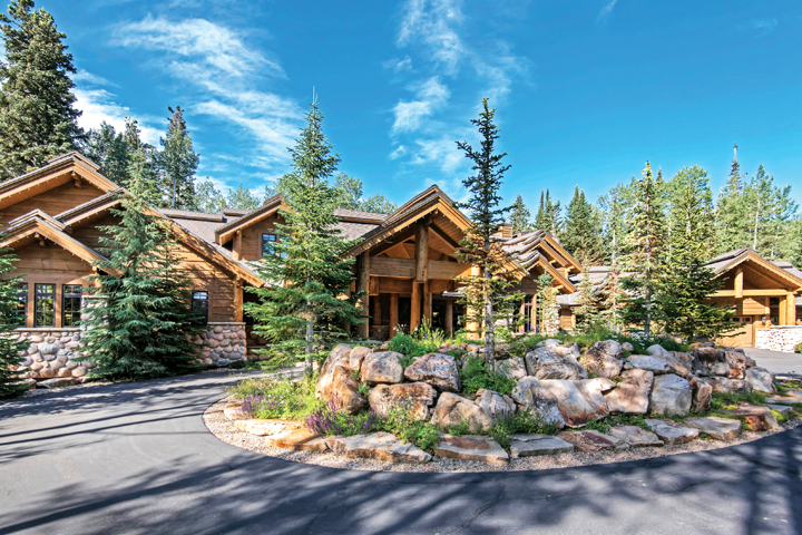 This estate, with 13,000 square feet of rustic elegance on 4.73 majestic acres in Park City, is offered at $7.1 million. Photo courtesy Scott Maizlish, Summit Sotheby's International Realty