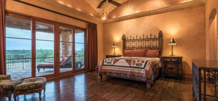 Beautiful Hill Country views from master