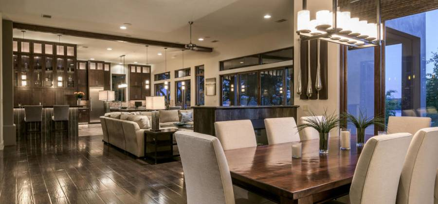 Dining open to living areas
